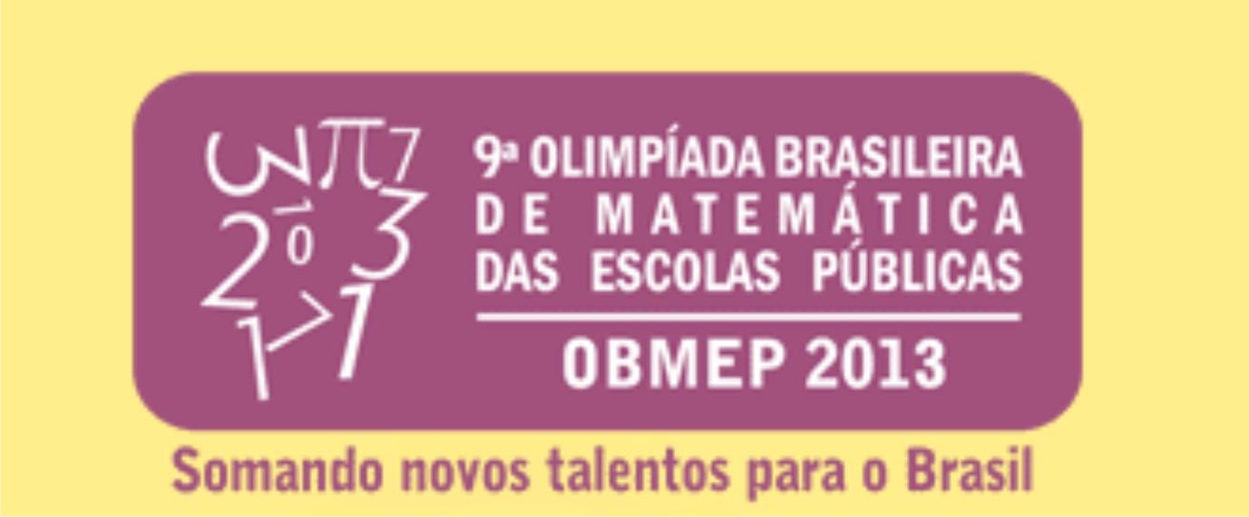 OBMEP 2013 - Primeira fase daqui a um dia!