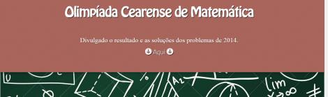 Resultado da Olimpíada Cearense de Matemática 2014