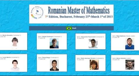 E começa a Romanian Master of Mathematics 2015