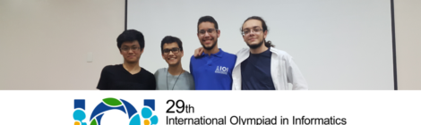 Divulgada a equipe brasileira da 29ª Olimpíada Internacional de Informática (IOI 2017)